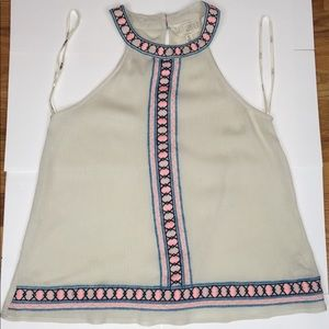 Sweet Wanderer Tank with Embroidered Details